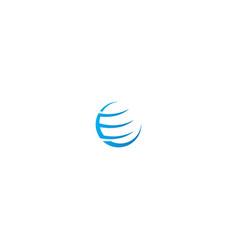 Orbit globe planet design logo vector
