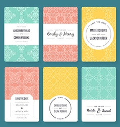 Ornamental Card Templates vector image