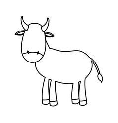 outlined cow manger animal nativity vector image