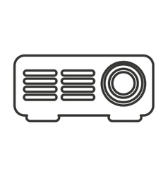 player video projector isolated icon vector image