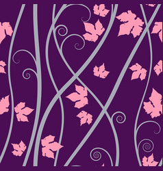 purple floral elements seamless background on art vector image