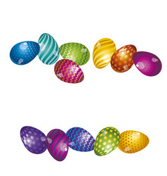 Rainbow vivid color easter egg banner bright vector