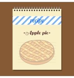 Recipe Book Apple Pie vector