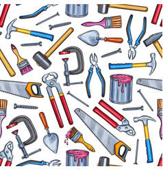 repair work tool seamless pattern background vector image
