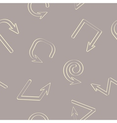 Seamless background with arrows vector image