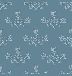 Seamless pattern with bouquets three white rose vector