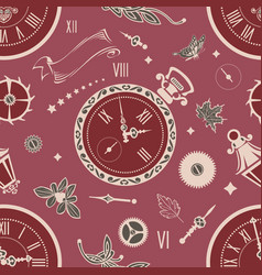 Seamless patterns clock vector