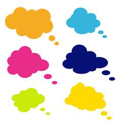 set of comic style speech bubbles clouds vector image