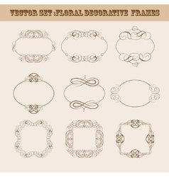 Set of frames for design vector