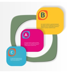 Simple with three-dimensional figures eps vector image
