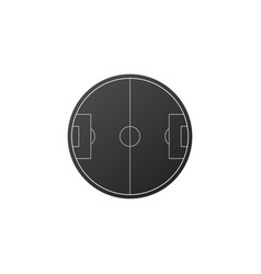 soccer field icon simple soccer or football vector image
