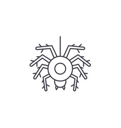 spider line icon concept spider linear vector image