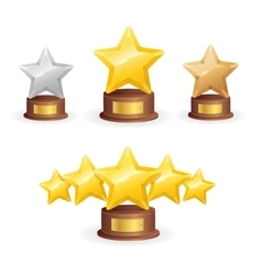 Star award set vector