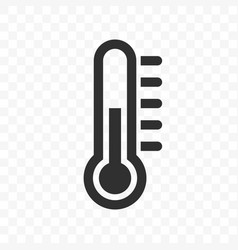 thermometer temperature scale icon vector image