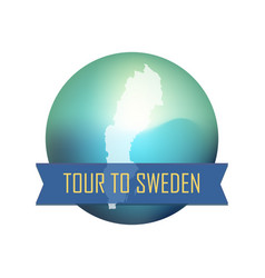 tour to sweden vector image