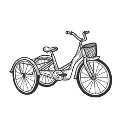 Tricycle transport sketch vector