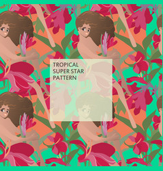 Tropical superstar pattern vector