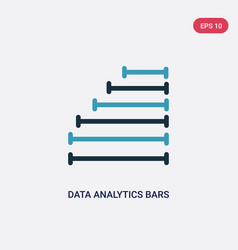 two color data analytics bars icon from user vector image