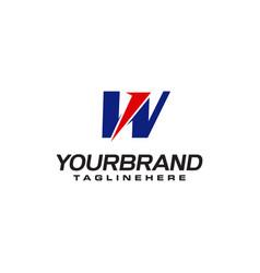 unique logo that forms letter w matches your vector image