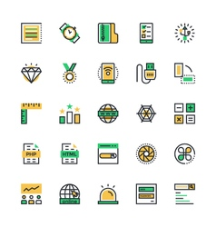 User Interface and Web Colored Icons 12 vector