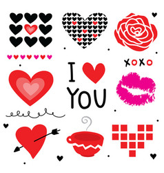 valentine i love you sweetheart cute cartoon vector image