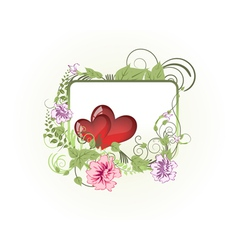 valentines day background frame vector image