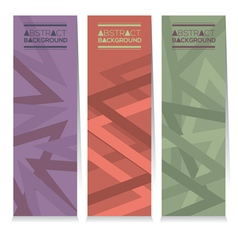 Vertical Banner Set Of Three Modern Graphic vector