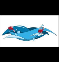 waves sea vacation cruise t-shirt printing vector image