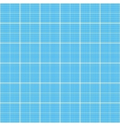 White graph grid on cyan paper seamless pattern vector image