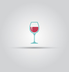 wine glass colored icon or sign vector image