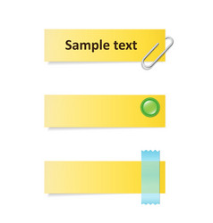 Yellow notes vector image