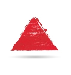 a triangular figure drawn with paint vector image