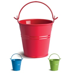 Bucket set vector image
