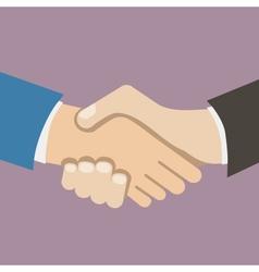 Flat design style icon businessman partnership vector
