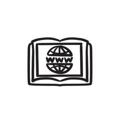 International education technology sketch icon vector