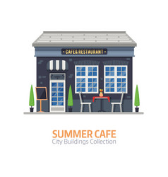 summer cafe building vector image