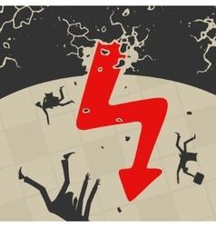 The international economic crisis vector