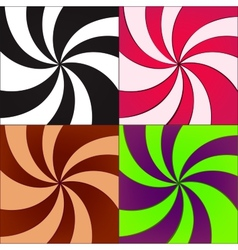 twirled backgrounds vector image