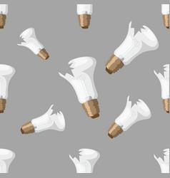 cartoon broken bulb seamless pattern background vector image