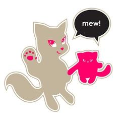 Cats say hello vector image vector image