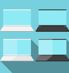 Laptop in flat style vector image vector image
