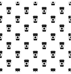 Paper coffee cup pattern vector