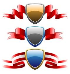 badges and ribbons set vector image