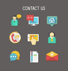 Contact Us Icons vector image