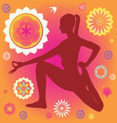 floral yoga elements vector image