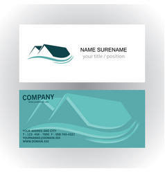 home real estate company logo business card vector image vector image