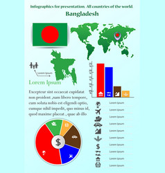infographics for presentation all countries vector image vector image
