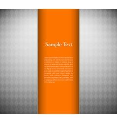 Metallic background with orange card vector image vector image