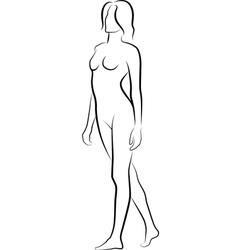nude19 vector image