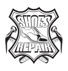 shoes repair leather vector image vector image